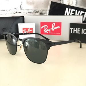 Ray-Ban NWT Clubmaster Metal MATTE BLACK/GRADIENT